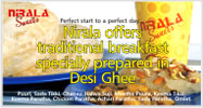 Nirala offers traditional breakfast only at Jail Road Br. (Takeaway Only)